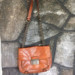 Brown Leather Shoulder or Crossbody Purse